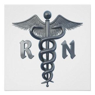 Símbolo de la enfermera registradoa perfect poster