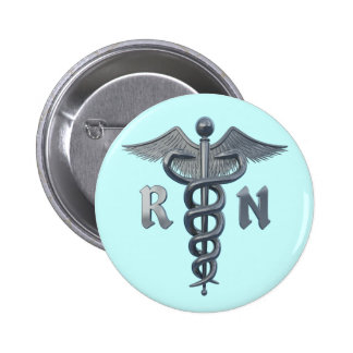 Símbolo de la enfermera registradoa pin