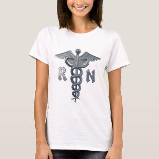Símbolo de la enfermera registradoa playera