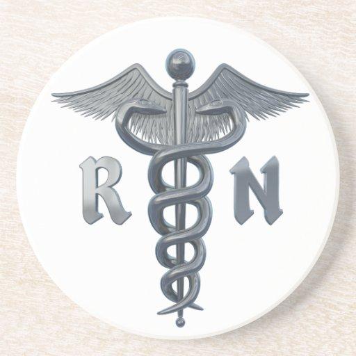Símbolo de la enfermera registradoa posavasos manualidades