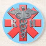 Símbolo de la enfermera registradoa posavasos personalizados