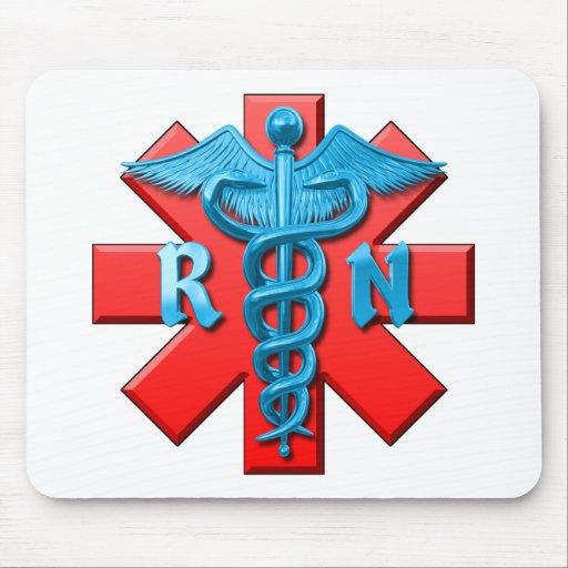 Símbolo de la enfermera registradoa alfombrillas de ratón