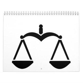 Símbolo de la escala calendario