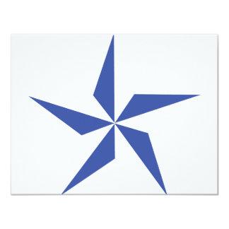 """símbolo de la estrella azul invitación 4.25"""" x 5.5"""""""