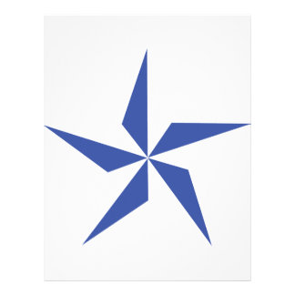 símbolo de la estrella azul plantilla de membrete