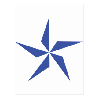 símbolo de la estrella azul tarjeta postal