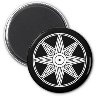 Símbolo de la estrella de Inanna Imán Redondo 5 Cm