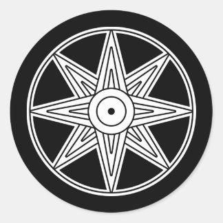Símbolo de la estrella de Inanna Pegatina Redonda