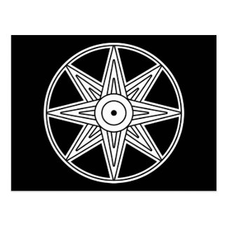 Símbolo de la estrella de Inanna Tarjeta Postal