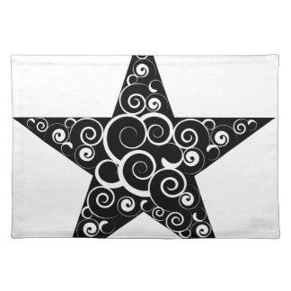 Símbolo de la estrella mantel individual