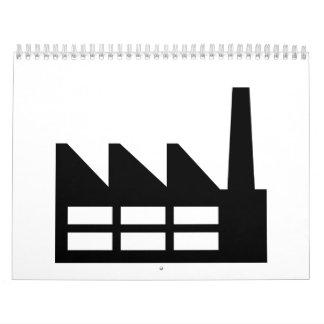 Símbolo de la fábrica calendarios