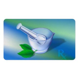 Símbolo de la farmacia tarjetas de visita