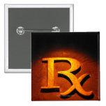 Símbolo de la farmacología pin cuadrado