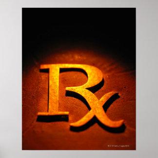 Símbolo de la farmacología póster