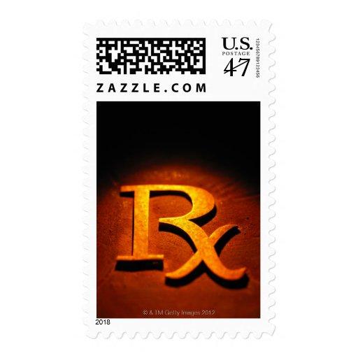 Símbolo de la farmacología sellos