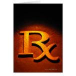Símbolo de la farmacología tarjeta de felicitación
