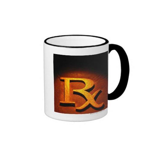 Símbolo de la farmacología taza de dos colores