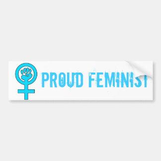 Símbolo de la feminista del poder de las mujeres pegatina para auto