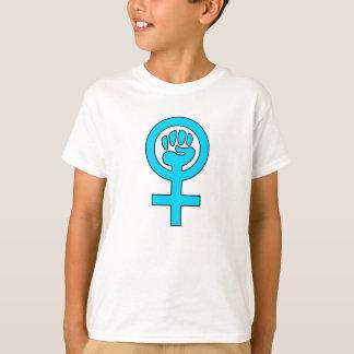 Símbolo de la feminista del poder de las mujeres playera