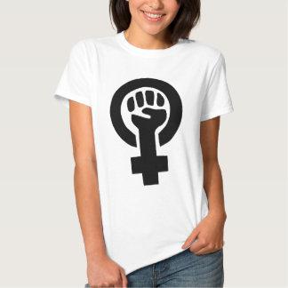Símbolo de la feminista del poder del chica playera