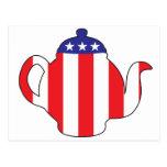 Símbolo de la fiesta del té tarjeta postal