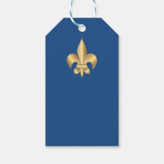 Símbolo de la flor de lis etiquetas para regalos