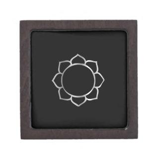 Símbolo de la flor de Lotus del buddhism Cajas De Joyas De Calidad
