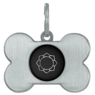Símbolo de la flor de Lotus del buddhism Placas De Mascota