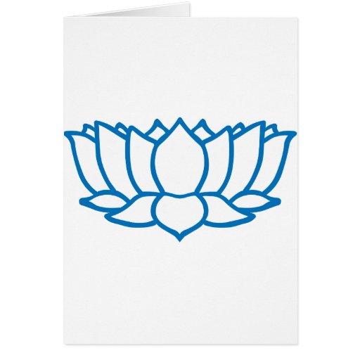 Símbolo de la flor de Lotus Felicitación