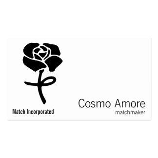 Símbolo de la flor tarjetas de visita