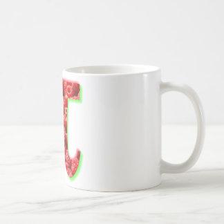 Símbolo de la frambuesa y del pi taza clásica