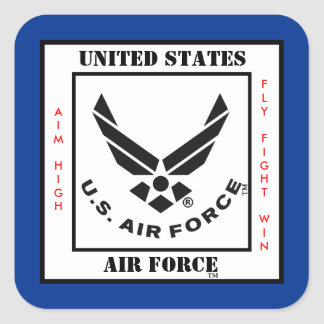 Símbolo de la fuerza aérea pegatina cuadrada