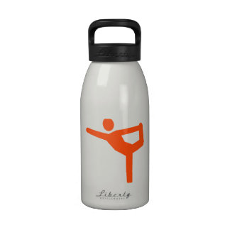 Símbolo de la gimnasia de la yoga botella de beber