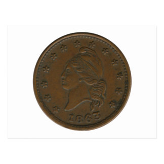 Símbolo de la guerra civil 1863 tarjeta postal