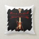 Símbolo de la guitarra de la roca almohadas