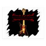 Símbolo de la guitarra de la roca postal