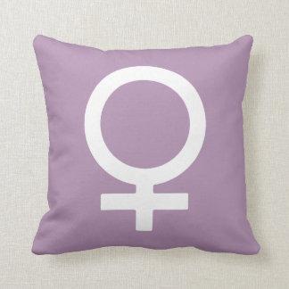 Símbolo de la hembra de la hierba de la lavanda cojín
