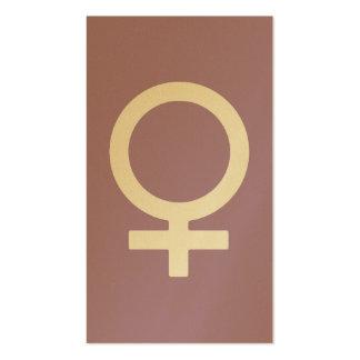 Símbolo de la hembra de la hierba de la lavanda tarjetas de visita