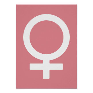 Símbolo de la hembra del hielo de la fresa póster