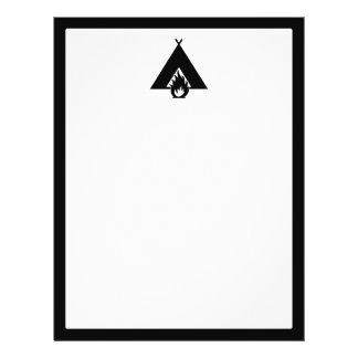 """Símbolo de la hoguera y de la tienda folleto 8.5"""" x 11"""""""
