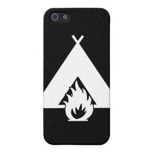 Símbolo de la hoguera y de la tienda (para los fon iPhone 5 coberturas