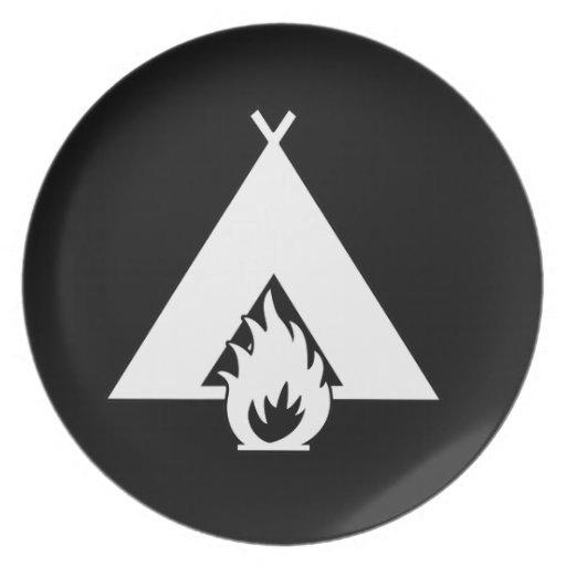Símbolo de la hoguera y de la tienda (para los fon plato para fiesta