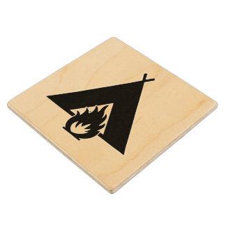Símbolo de la hoguera y de la tienda posavasos de arce