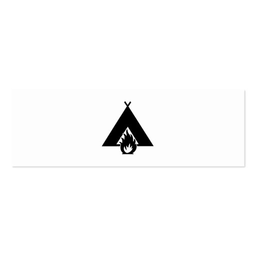 Símbolo de la hoguera y de la tienda tarjetas de visita mini
