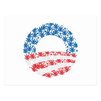 Símbolo de la hoja del pote de Obama Tarjeta Postal