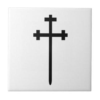 Símbolo de la iglesia de la orden de Aaronic Azulejo Cuadrado Pequeño
