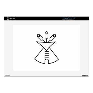 Símbolo de la iglesia del nativo americano calcomanía para 38,1cm portátil