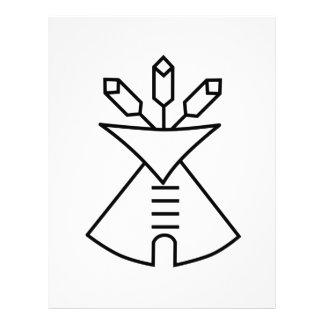 Símbolo de la iglesia del nativo americano plantillas de membrete