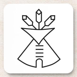 Símbolo de la iglesia del nativo americano posavasos de bebidas