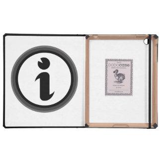 Símbolo de la información iPad cárcasa